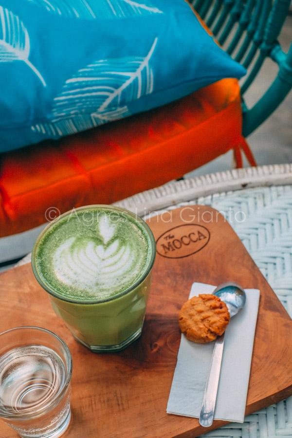 Matcha latte in Bali