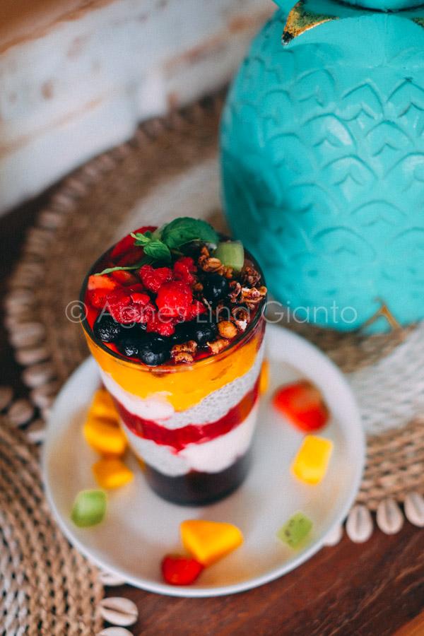 Organic Rainbow Chia Smoothie in Bali