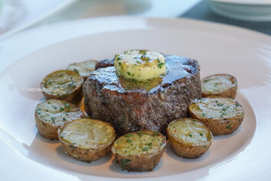 Grilled beef steak in Bali