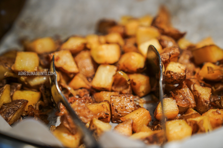 Roasted potatoes hotel breakfast