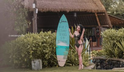 Girl Traveller at Bali Beach Club