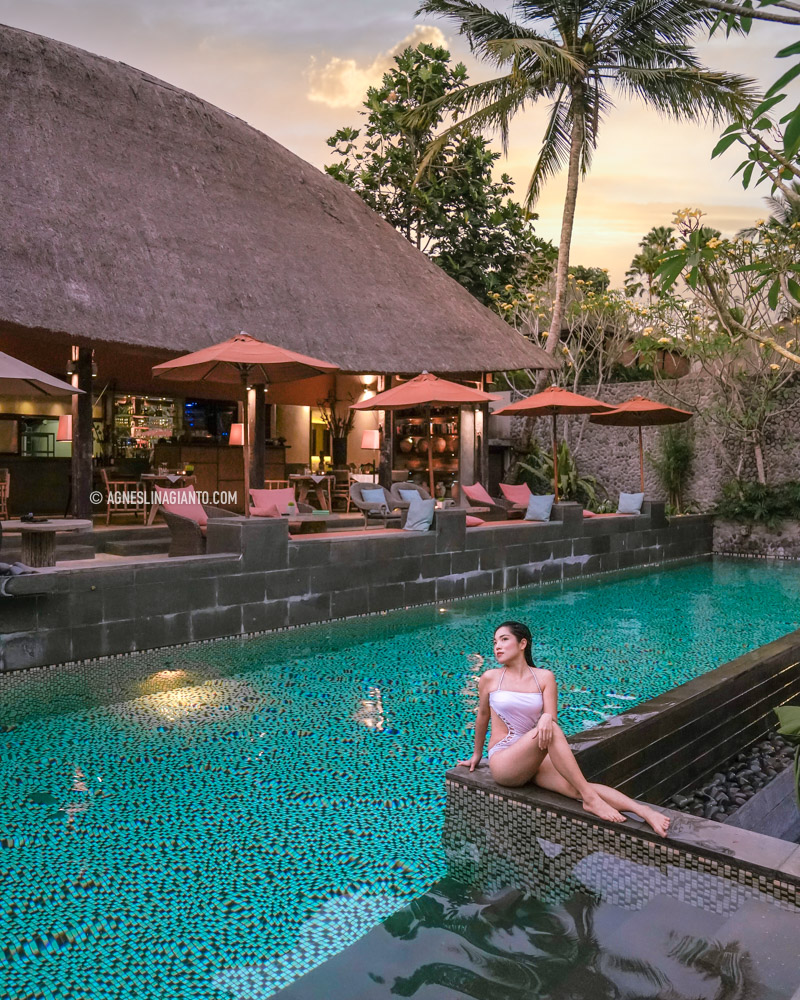Agnes Lina Gianto in Ubud Bali, at The Purist Villas Ubud.