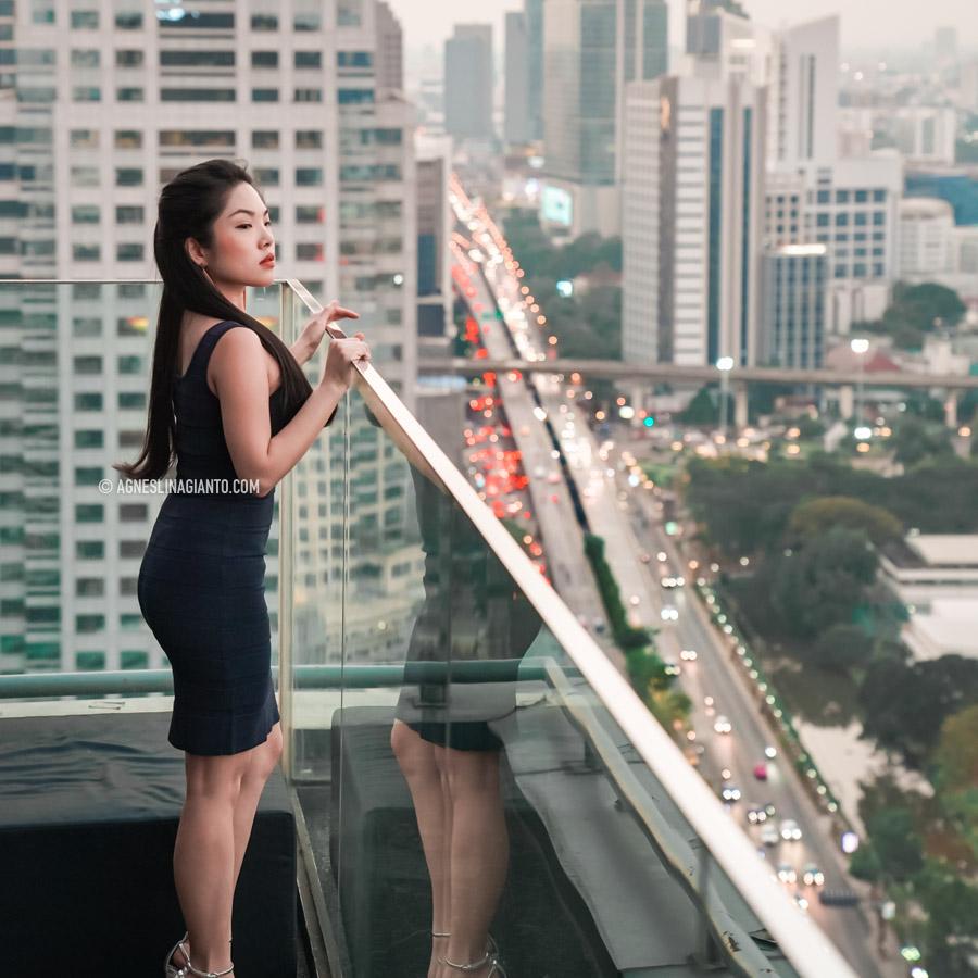 Bangkok city view from Hi So Rooftop Bar